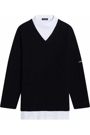 Balenciaga Layered V-neck jumper