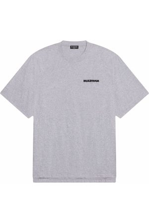 Balenciaga Logo-print T-shirt - Grey