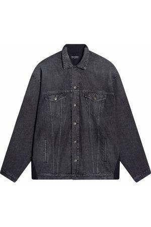 Balenciaga Women Denim Jackets - Patchwork denim jacket