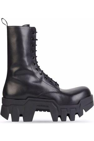 Balenciaga Bulldozer lace-up boots