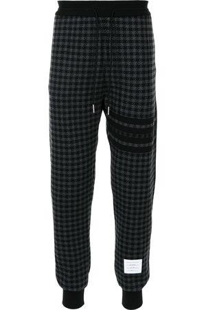 Thom Browne Houndstooth-pattern track pants - Grey