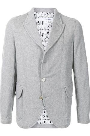 Comme Des Garçons Shirt Men Blazers - Single-breasted cotton blazer - Grey