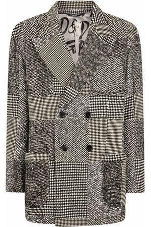 Dolce & Gabbana Patchwork-print double-breasted blazer