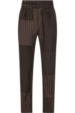 Dolce & Gabbana Patchwork stripe tailored trousers