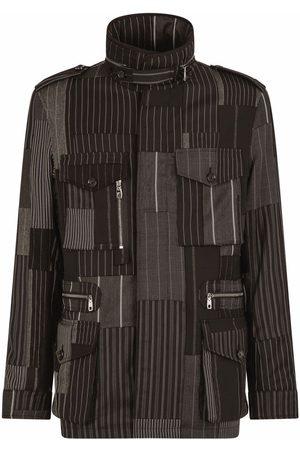 Dolce & Gabbana Patchwork-stripe utility jacket