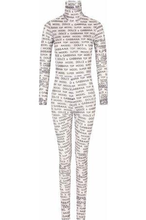 Dolce & Gabbana All-over logo-print jumpsuit