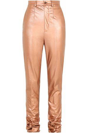 Dolce & Gabbana Coated high-waisted trousers