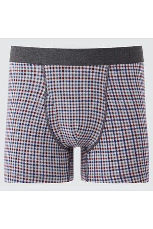 UNIQLO Men's Supima Cotton Checked Boxer Briefs, , S