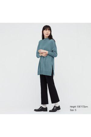 UNIQLO Women's Extra Fine Merino Blend Mock Neck Tunic, , XXS