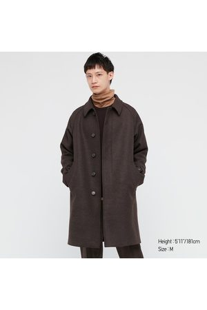 UNIQLO Men's Balmacaan Coat, Brown, XXS
