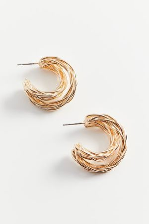 Urban Outfitters Braided Double Hoop Earring