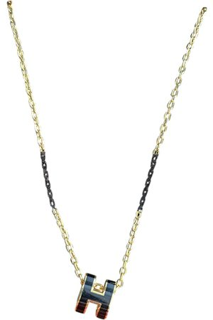 Hermès Pop H yellow necklace