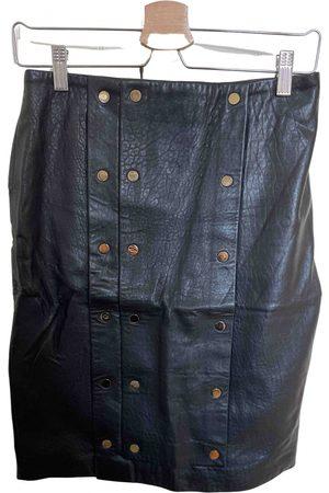 STINE GOYA Leather mid-length skirt