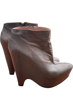 Pura Lopez Leather ankle boots