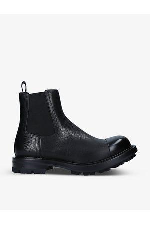 Alexander McQueen Men Chelsea Boots - Punk grained leather Chelsea boots