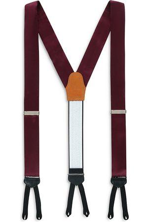 Trafalgar Men Braces - Sutton Formal Solid Color Silk Brace