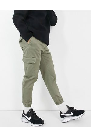 JACK & JONES Men Cargo Pants - Intelligence cuffed pants with cargo pocket in khaki
