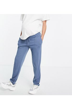 Mama Licious Mamalicous slim fit sweatpants in blue-Blues
