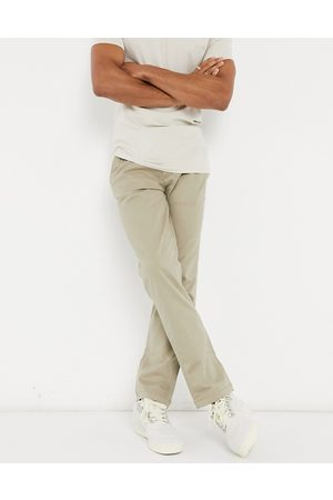SELECTED Straight fit chino with organic cotton in stone-Neutral