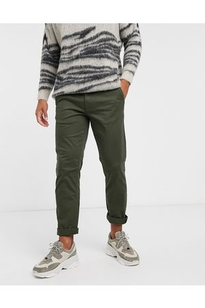 Selected Homme Straight fit chino with organic cotton in khaki