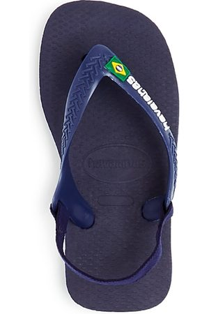 Havaianas Flip Flops - Unisex Brazilian Flag Slingback Flip-Flops - Walker, Toddler