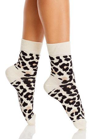 Happy Socks Women Socks - Leopard Half Crew Socks