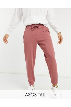 ASOS DESIGN Tall set oversized sweatpants in washed berry