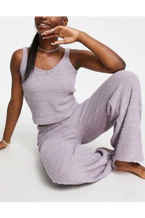 ASOS DESIGN Women Sweats - Lounge fluffy cami & pants set in mink