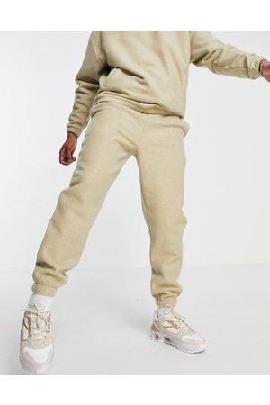 ASOS DESIGN Set oversized polar fleece sweatpants in -Neutral