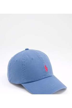Polo Ralph Lauren Cap in delta blue with player logo-Blues