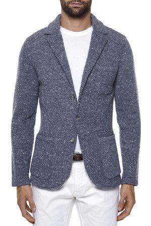 ELEVENTY Men Blazers - Tweed Knitted Sweater Jacket