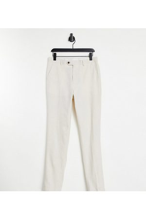 Gianni Feraud Tall Wedding linen slim fit cropped suit pants