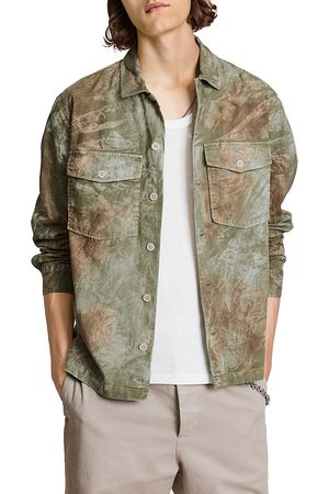 Allsaints Men Shirts - Pioneer Tie Dye Relaxed Fit Shirt