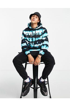 SikSilk Tie-dye hoodie in and blue