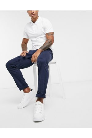 Selected Homme Straight fit chino with organic cotton in navy