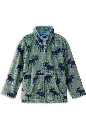 Hatley Boys Fleece Jackets - Boys' Forest Moose Front Zip Fleece - Little Kid, Big Kid
