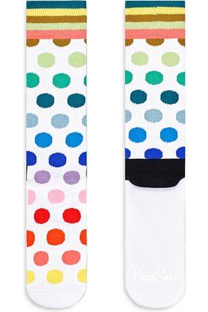 Happy Socks Women Socks - Multi Dot Crew Socks