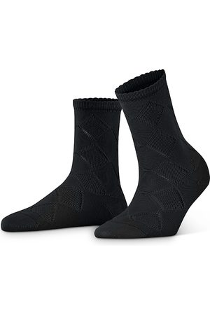 Falke Ruffle Cuff Argyle Socks