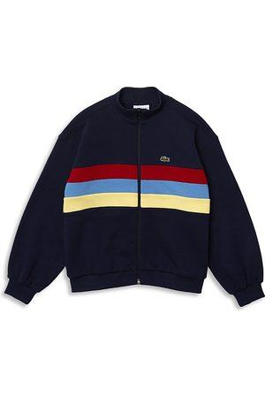Lacoste Boys' Mock Neck Zipper Sweatshirt - Little Kid, Big Kid