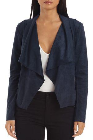 BAGATELLE Faux-Suede Drape-Front Jacket