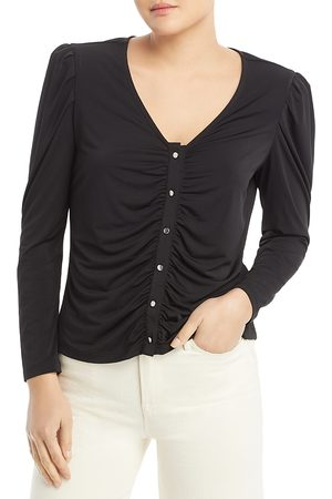 SINGLE THREAD Ruched Front Top