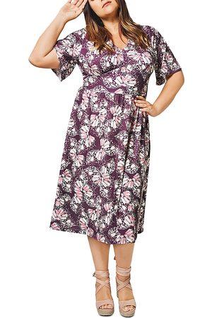 Leota Zoe Printed Midi Dress