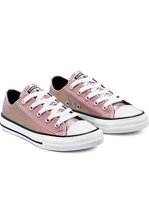 Converse Girls' Chuck Taylor All Star Iridescent Glitter Low Top Sneakers - Toddler, Little Kid, Big Kid