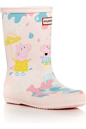 Hunter Rain Boots - Unisex Kids First Peppa Pig Muddy Puddles Rain Boots - Walker, Toddler, Little Kid