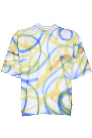 Marni Scribble Spray print cotton T-shirt