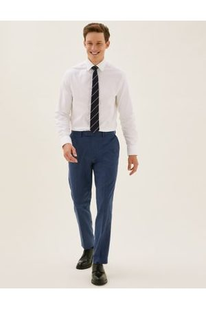 Marks & Spencer Slim Fit Textured Trousers