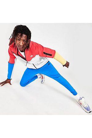 Nike Men Sweatpants - Tech Fleece Taped Jogger Pants in /Signal Size Small Cotton/Polyester/Fleece