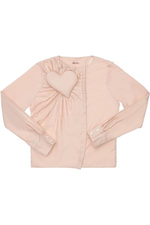 NIKOLIA Cotton Shirt W/ Heart Appliqué