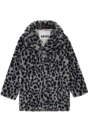 Molo Leo Print Faux Fur Coat