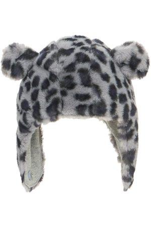 Molo Leo Print Faux Fur Hat W/ Ears